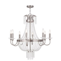 Valentina 8 Light 32 inch Brushed Nickel Chandelier Ceiling Light