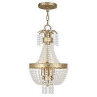 Livex 51853-28 Valentina 3 Light 10 inch Hand Applied Winter Gold Pendant Ceiling Light