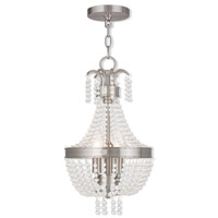 Valentina 3 Light 10 inch Brushed Nickel Pendant Ceiling Light
