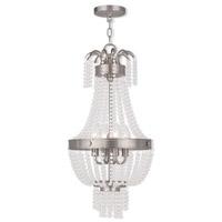 Livex 51854-91 Valentina 4 Light 13 inch Brushed Nickel Pendant Ceiling Light