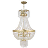 Livex Lighting Valentina 6 Light Pendant in Hand Applied Winter Gold 51856-28