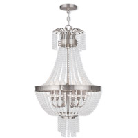 Livex Lighting Valentina 6 Light Pendant in Brushed Nickel 51856-91