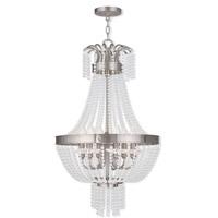 Livex 51856-91 Valentina 6 Light 18 inch Brushed Nickel Pendant Ceiling Light