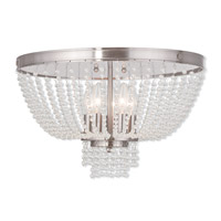 Livex Lighting Valentina 5 Light Flush Mount in Brushed Nickel 51866-91