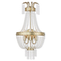 Livex 51874-28 Valentina 3 Light 13 inch Hand Applied Winter Gold Wall Sconce Wall Light
