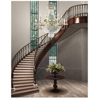 Livex Lighting Valentina 21 Light Foyer Light in Hand Applied Winter Gold 51877-28