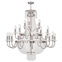 Livex Lighting Valentina 21 Light Foyer Light in Brushed Nickel 51877-91