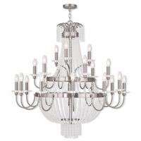 Livex 51877-91 Valentina 21 Light 42 inch Brushed Nickel Foyer Light Ceiling Light