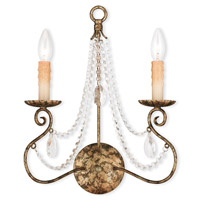 Isabella 2 Light 13 inch Hand Applied European Bronze Wall Sconce Wall Light