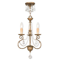 Livex Lighting 51903-36 Isabella 3 Light 13 inch Hand Applied European Bronze Mini Chandelier Ceiling Light