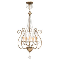 Livex Lighting 51907-36 Isabella 5 Light 18 inch Hand Applied European Bronze Foyer Chandelier Ceiling Light