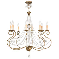 Livex Lighting 51908-36 Isabella 8 Light 32 inch Hand Applied European Bronze Chandelier Ceiling Light