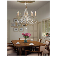 Isabella 10 Light 32 inch Hand Applied European Bronze Chandelier Ceiling Light