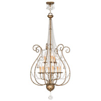 Livex Lighting 51911-36 Isabella 9 Light 24 inch Hand Applied European Bronze Foyer Chandelier Ceiling Light