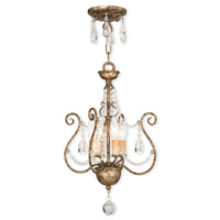 Isabella 4 Light 13 inch Hand Applied European Bronze Convertible Mini Chandelier Ceiling Light