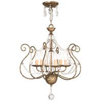 Livex 51916-36 Isabella 6 Light 20 inch Hand Applied European Bronze Convertible Chandelier Ceiling Light