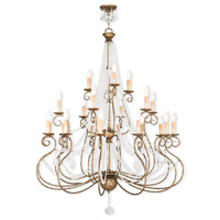 Livex Lighting 51919-36 Isabella 21 Light 43 inch Hand Applied European Bronze Foyer Chandelier Ceiling Light