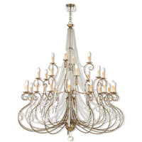Isabella 28 Light 59 inch Hand Applied European Bronze Grand Foyer Chandelier Ceiling Light