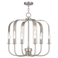 Livex 51936-91 Addison 7 Light 25 inch Brushed Nickel Chandelier Ceiling Light