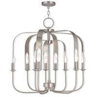 Livex 51938-91 Addison 9 Light 28 inch Brushed Nickel Chandelier Ceiling Light