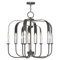 Livex 51938-92 Addison 9 Light 28 inch English Bronze Chandelier Ceiling Light