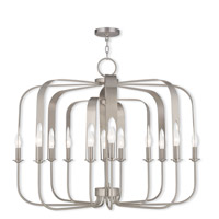 Livex 51939-91 Addison 12 Light 36 inch Brushed Nickel Chandelier Ceiling Light