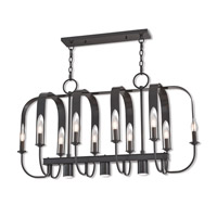 Addison 13 Light 42 inch English Bronze Linear Chandelier Ceiling Light
