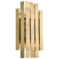 Livex 52041-08 Greenwich 2 Light 6 inch Natural Brass ADA Wall Sconce Wall Light