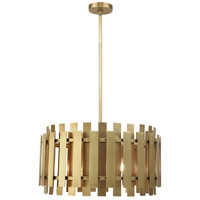 Greenwich 6 Light 24 inch Natural Brass Pendant Chandelier Ceiling Light