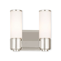 Livex 52102-35 Weston 2 Light 10 inch Polished Nickel ADA Wall Sconce Wall Light