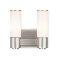 Livex 52102-91 Weston 2 Light 10 inch Brushed Nickel ADA Wall Sconce Wall Light