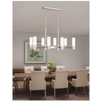 Livex 52108-35 Weston 8 Light 37 inch Polished Nickel Linear Chandelier Ceiling Light