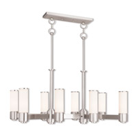 Livex Lighting Weston 8 Light Linear Chandelier in Brushed Nickel 52108-91