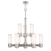 Weston 9 Light 28 inch Brushed Nickel Chandelier Ceiling Light