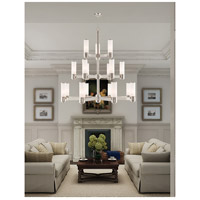 Livex 52119-35 Weston 17 Light 44 inch Polished Nickel Foyer Chandelier Ceiling Light