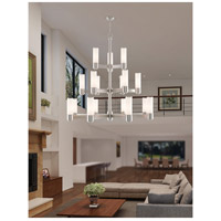 Weston 17 Light 44 inch Brushed Nickel Foyer Chandelier Ceiling Light