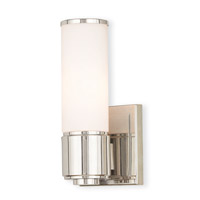 Livex 52121-35 Weston 1 Light 5 inch Polished Nickel ADA Wall Sconce Wall Light