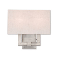 Livex 52132-91 Meridian 2 Light 13 inch Brushed Nickel ADA Wall Sconce Wall Light