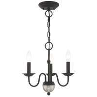 Livex 52163-04 Windsor 3 Light 14 inch Black Mini Chandelier Ceiling Light