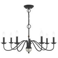 Livex 52167-04 Windsor 7 Light 28 inch Black Chandelier Ceiling Light