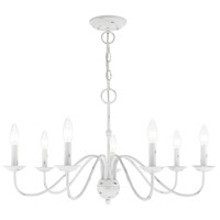 Livex 52167-60 Windsor 7 Light 28 inch Antique White Chandelier Ceiling Light