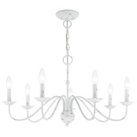 Livex 52167-60 Windsor 7 Light 28 inch Antique White Chandelier Ceiling Light alternative photo thumbnail