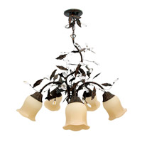 Livex Lighting Chalet 5 Light Chandelier in Moroccan Gold 5225-50