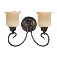 Livex Lighting Chalet 2 Light Bath Light in Moroccan Gold 5232-50