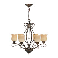 Livex Lighting Chalet 6 Light Chandelier in Moroccan Gold 5236-50 photo thumbnail