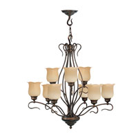 Livex Lighting Chalet 9 Light Chandelier in Moroccan Gold 5239-50