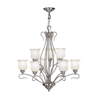 Livex Lighting Chalet 9 Light Chandelier in Brushed Nickel 5239-91