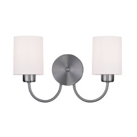Livex Lighting Sussex 2 Light Wall Sconce in Brushed Nickel 5262-91