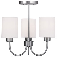 Livex Lighting Sussex 3 Light Pendant/Ceiling Mount in Brushed Nickel 5263-91 alternative photo thumbnail