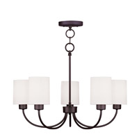 Livex Lighting Sussex 5 Light Chandelier/Ceiling Mount in Bronze 5265-07